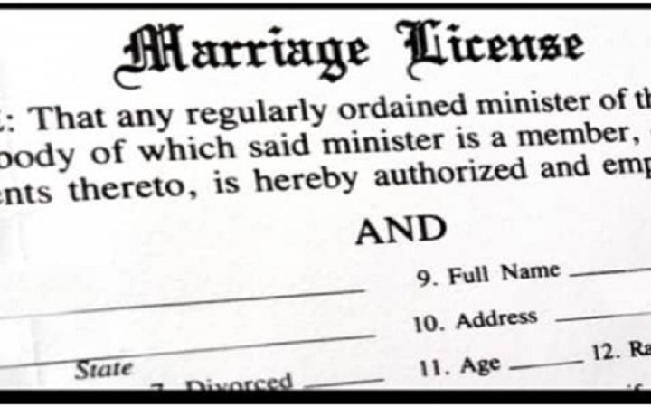 Basic things you need to know about a marriage license